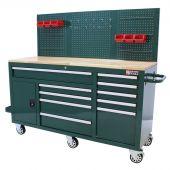 Etabli d'atelier mobile  62 inch 10  tiroirs  British Racing Green (vert ) - George Tools