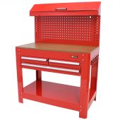 Etabli d'atelier  à 3 tiroirs  rouge - George Tools
