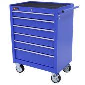 Servante d'atelier à 6 tiroirs bleu - George Tools