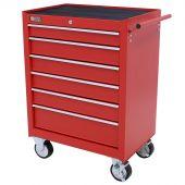 Servante d'atelier à 6 tiroirs rouge - George Tools