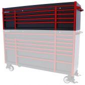 Coffre à outils  Everest 72 Industriel noir/rouge 11  tiroirs  - Kraftmeister