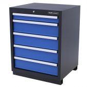 Armoire à 5 tiroirs Premium Bleue – Kraftmeister