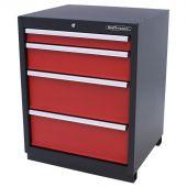 Armoire à 4 tiroirs Premium Rouge – Kraftmeister
