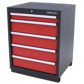 Armoire à 5 tiroirs Premium Rouge – Kraftmeister