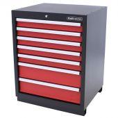 Armoire à 7 tiroirs Premium Rouge - Kraftmeister