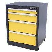 Armoire à outils 4 tiroirs Premium jaune - Kraftmeister