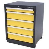 Armoire à outils 5 tiroirs Premium jaune - Kraftmeister