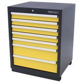 Armoire à outils 7 tiroirs Premium jaune - Kraftmeister