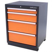 Armoire à outils 4 tiroirs Premium orange - Kraftmeister