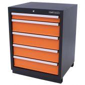 Armoire à outils 5 tiroirs Premium orange - Kraftmeister