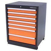 Armoire à outils 7 tiroirs Premium orange - Kraftmeister