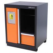 Poubelle avec porte-rouleau papier Premium Orange – Kraftmeister
