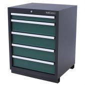 Armoire à outils 5 tiroirs Premium verte - Kraftmeister