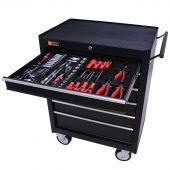 Servante mobile d'atelier remplie 6 tiroirs 144 pièces noir - George Tools