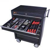 Servante mobile d'atelier remplie 7 tiroirs 209 pièces anthracite - George Tools