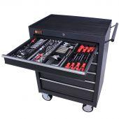 Servante mobile d'atelier remplie 6 tiroirs 209 pièces anthracite - George Tools