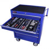 Servante mobile d'atelier remplie 7 tiroirs 253 pièces bleu - George Tools