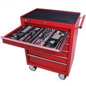 Servante mobile d'atelier remplie 6 tiroirs 253 pièces rouge - George Tools