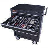 Servante mobile d'atelier remplie 7 tiroirs 253 pièces anthracite - George Tools