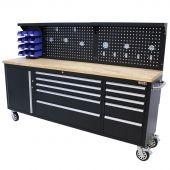 Etabli d'atelier mobile 84 inch noir - George Tools