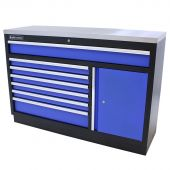Armoire à outils XL Inox Standard bleu - Kraftmeister