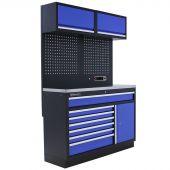 Mobilier d'atelier Minnesota Inox bleu - Kraftmeister