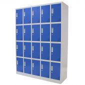 Vestiaire metallique 20 portes bleu - Kraftmeister