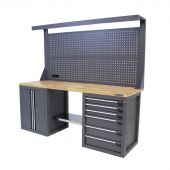 Etabli d'atelier 200 E6DO panneau à outils Platinum Pro – Kraftmeister