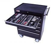 Servante mobile d'atelier 26, rempli de 6 tiroirs 253 pcs – George Tools