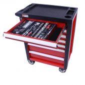 Servante mobile d'atelier remplie de  6 tiroirs, 247 pcs – George Tools