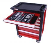 Servante  mobile d'atelier remplie Redline 206 pcs - George Tools