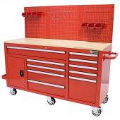 Etabli d'atelier mobile  62 inch 10  tiroirs  rouge - George Tools