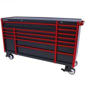 Servante mobile  Everest 72 Industriel  noir/rouge à 17 tiroirs  - Kraftmeister