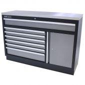 Kraftmeister armoire de rangement   7  tiroirs -    plan de  travail en inox