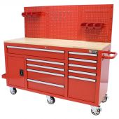 Etabli d'atelier mobile rempli  62 inch Rouge  -   George Tools